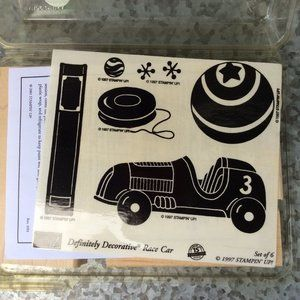 Stampin Up Race Car Rubber Stamp